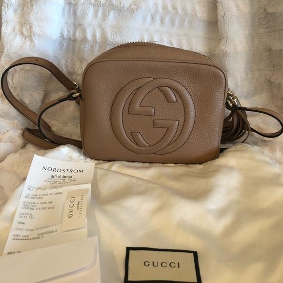 Gucci Handbags - Gucci Soho Disco Leather bag in Camelia e28241546cf14
